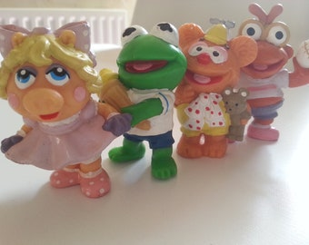 Vintage, rétro, années 80, années 1980, les bébés Muppet, Miss Piggy, Kermit, Fozzie, Scooter, figurines pvc, choisir style, 1985, NewellsJewels sur etsy