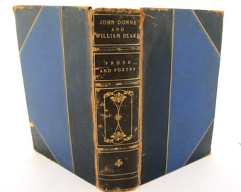 John Donne William Blake Complete Poetry and Selected Prose John DONNE & Complete Poetry William BLAKE Leather Volume Random House 1941