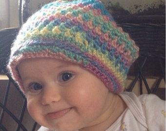 Rainbow Baby Slouch Hat