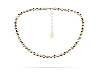 Style Héroine Necklace-modern ball chain-5 mm-gold, Rosegold or silver