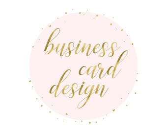 Matching business card design to go with your logo