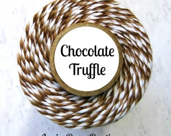 Dark Brown, Light Brown & White Bakers Twine by Trendy Twine - Chocolate Truffle - Packaging, Decorating, Crafting, Treats, Favors - Cotton