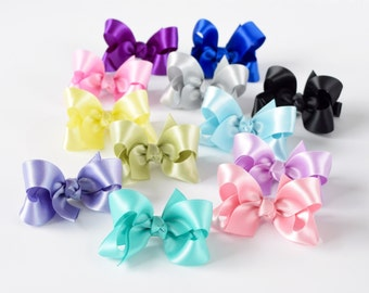 Hair Bows for Girls, Toddler Hair Bows, Baby Hair Bows, 2 inch Bows, Hair Bows, Satin Bows, Hairbows, Girls Hair Bows, Baby Bows, Pigtails