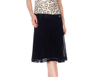 Quintessential Black  White Chanel Dress Size: M