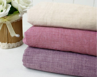 "Soft Cotton Gauze - Peach, Purple or Violet - 59"" Wide - By the Yard 72770"