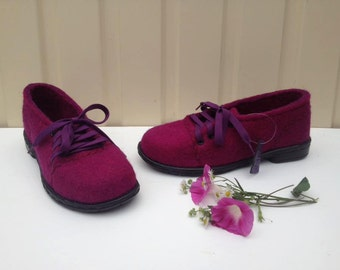 Felted wool shoes Organic-eco-women shoes-wool-rubber sole.Felted shoes with rubber soles.Warm shoes.Footwear according to your measurements