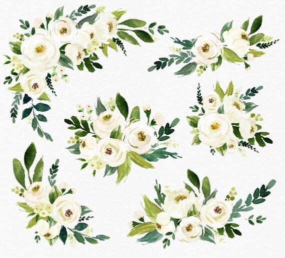 Watercolor White Flowers Images Flower Decoration Ideas