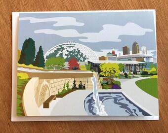 Des Moines, Iowa Botanical Garden Note Cards