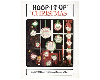 Hoop It Up Cross Stitch Booklet, Christmas Cross Stitch Patterns, Hoop Patterns Cross Stitch Booklet, by NewYorkTreasures on Etsy