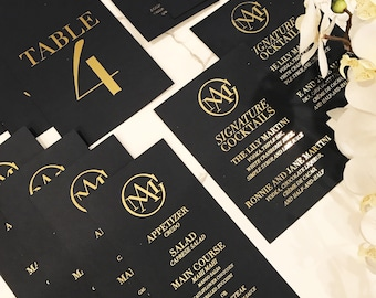 Event or wedding day-of stationery WITH FOIL {customizable}