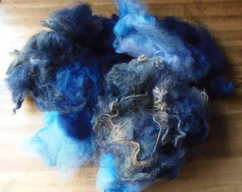 Dyed Jacobs fleece - 100g - British Wool - spinning - felting