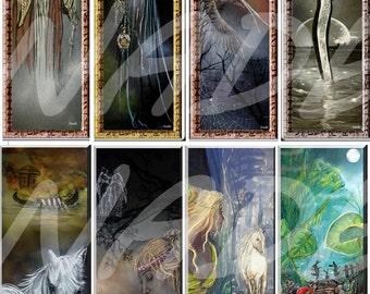 """Set of 8 bookmarks """"artist NADE"""" illustration..."""
