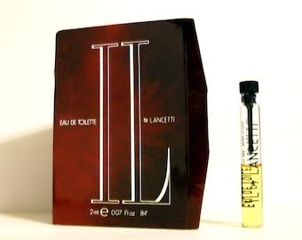 Vintage 1990s IL by Lancetti 0.07 oz Eau de Toilette Sample Vial on Card MEN'S COLOGNE