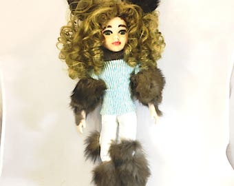 Werewolf girl doll.  Lycan girl doll.  Teen-wolf. Were-girl.  Wolf girl.