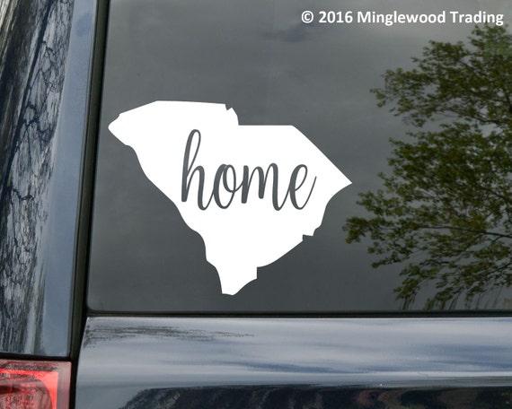 South carolina state vinyl decal sticker 6 x 4 75