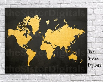 Explorer map mural etsy world map wanderlust sign gold world map world map poster map poster printable 16x20 jpg diy instant download digital files only gumiabroncs Image collections