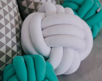 Knot pillow knot cushion decorative pillows modern pillow minimalist pillow trendy pillow handmade pillow blackfriday sale white