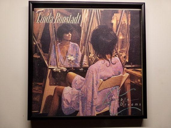 Glittered Record Album - Linda Ronstadt - Simple Dreams