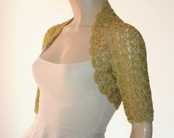 Wedding crochet shrug, Wedding bolero shrug, Bolero jacket, Lace shrug, Bridal shoulders cover, Bridesmaids Cover up Bolero