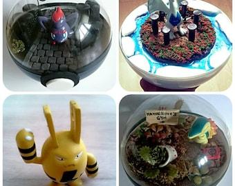 Elekid POKÉMON TERRARIUM - Custom Pokemon Gift / Pokeball Diorama / Fairy Garden / Pokemon Miniature