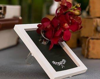 Framed Chalkboard Wedding Table Place Card Holder, Wedding Favour Gift, Bud Vase - Pack of 6