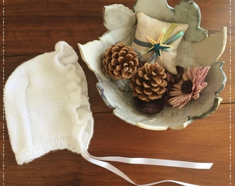 Knitted Baby Bonnet
