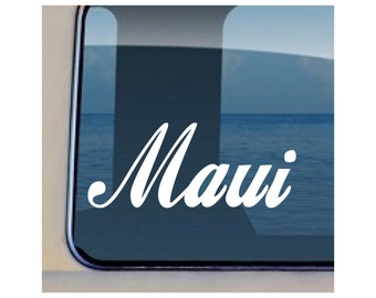 Maui Decal Hawaiian Island Sticker - 120