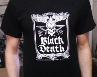 Black Death t-shirt Malt Liquor Shirt Dr Johnny Fever WKRP