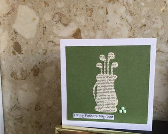 """Handmade """"Golf lover"""" Fathers day card"""