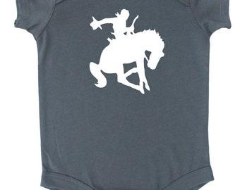 Bucking Cowboy Baby Bodysuit - Western Baby