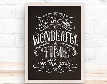 Wonderful Time Christmas, Wall Decor