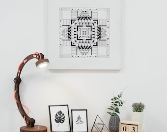 ORIGINAL art painting, Original art geometric, Geometric art Hygge wall art, Custom art, Painting Original painting, Home decor, Canvas20x20