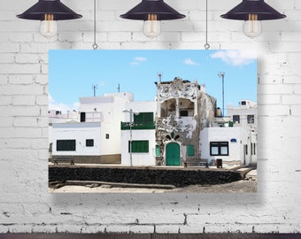 Lanzarote Art 03 Village Casa Villa poster photo painting Photography 45 x 30 cm