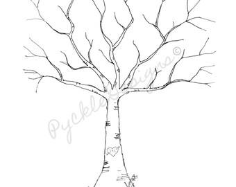 Wedding Guest Thumb Print Tree (DIGITAL FILE)