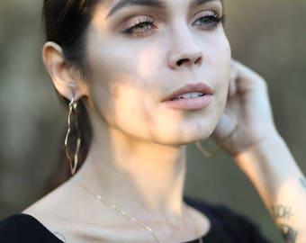 "Sunstone Pendant, Bronze Necklace, Bronze Metalwork, Patina Metal, Boho Jewelry, Bohemian Jewelry, Sunstone Necklace, Everyday Jewelry, 16"""