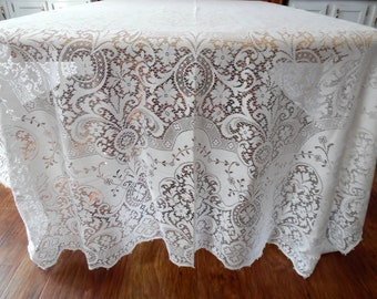 Quaker Lace Tablelcoth Lace Overlay Beautiful Lace Netting New Old Stock Original Box ECS SVFT