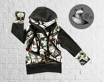 Pre-order - Hoodies model white REALTREE camouflage
