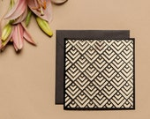 Modern Wedding Invitations Laser Cut Geometric Design Assorted Colors Available