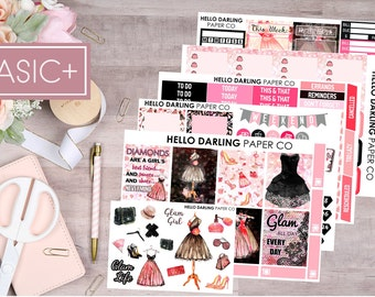 Glam Girl Kit, Glam Stickers, Weekly Kit, Planner Weekly Kit, Weekly Sticker Kit, Erin Condren, Happy Planner, Planner Stickers, K018