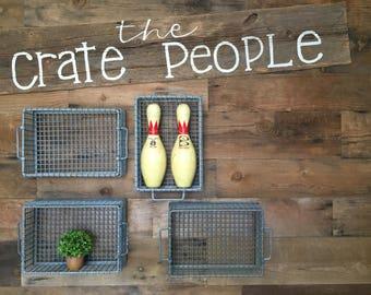 ZINC Wire Baskets | Vintage Industrial Metal Wire Bins – Factory Crates