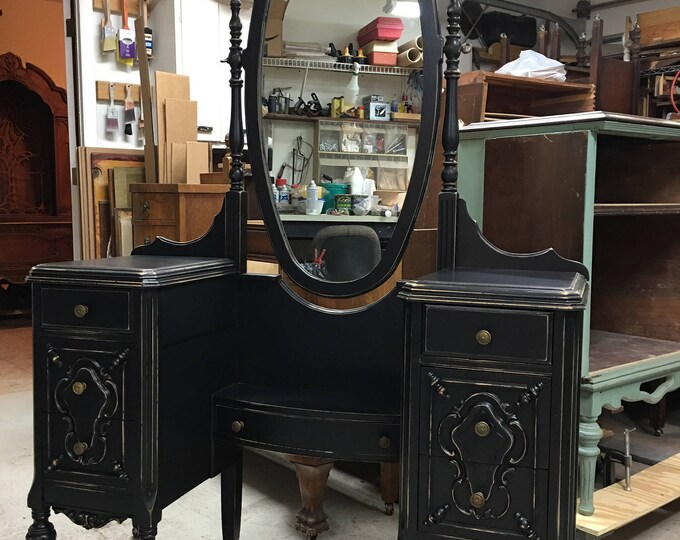 CUSTOM VANITY Order An Antique Vanity And Mirror To Be Restored and Painted to Your Specs The Shabby Chic Furniture With Nationwide Shipping