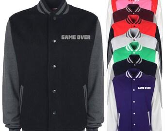 Game Over Varsity Jacket