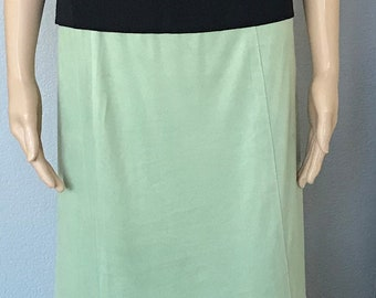 Max Studio womens skirt, Vintage green suede skirt, Long green skirt, Size small, Vintage Max Studio skirt, Spring clothing Mothers Day gift