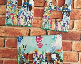My little Pony light switch plate cover home decor nursery wall outlet kids room