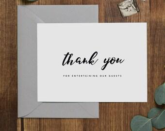 Vielen Dank für die Unterhaltung unserer Gäste, DJ Hochzeitskarte, Hochzeitskarte für DJ, Hochzeit-Dankeschön-Karten, Hochzeit DJ Dankeschön-Karte, K8