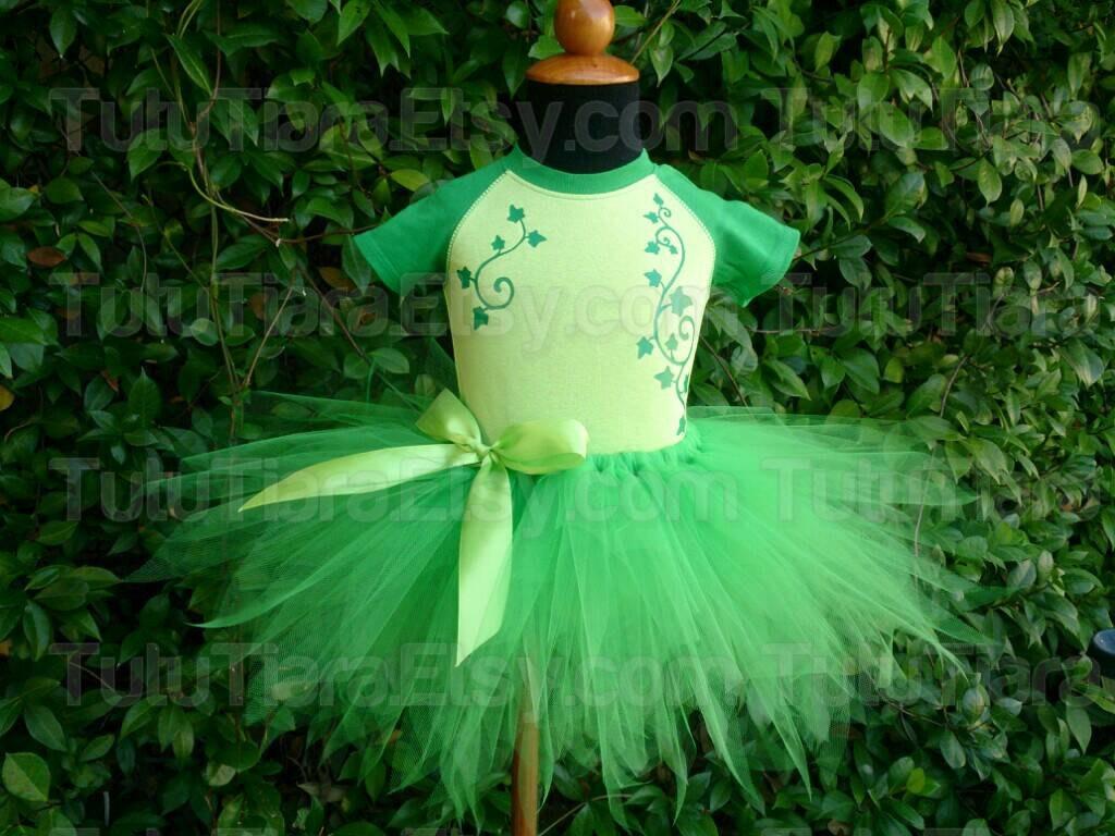 Poison Ivy Tutu Costume Set Green Ivy Raglan Bodysuit Green # Ragla Muebles Infantiles