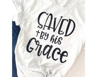 Jesus Shirt // Saved By Grace Shirt // Christian Shirt // Jesus Saves Tee // Coffee and Jesus Shirt // Religious Tee // Jesus T-Shirt