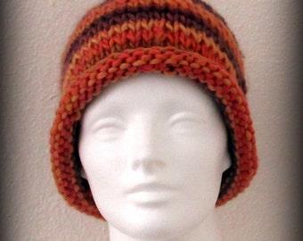 knit hat - knit cap - hand knit hat - beanie - wool knit hat - knit beanie - Merino wool knit hat - Merino wool hat - hand knit merino wool