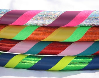 Hula Hoop - Budget 3 Color Custom Hula Hoop - Dance or Exercise - Spiral or ZigZag - Collapsible for Travel - Create Your Own Hoola Hoop