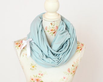 """Braided loop """"Charlotte"""" Mint green with bow"""